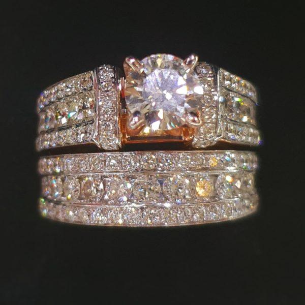 Classic Engagement Ring & Wedding Ring (Bridal Set)