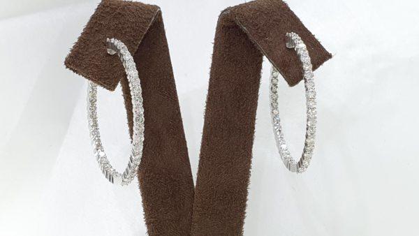 DIAMONDS INSIDE OUTSIDE HOOP EARRINGS