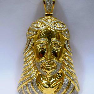 Jesus Diamond pendant