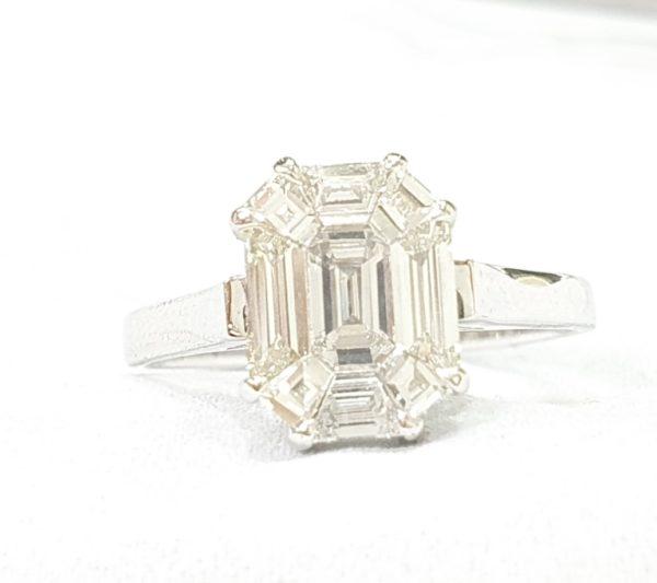 Emerald Cut Diamond Pie Cut Rings For Women