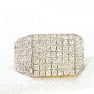 Men's Pinky Ring with Diamonds