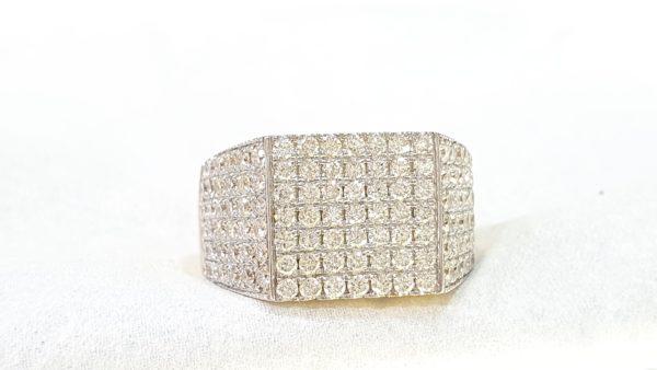 Men's Pinky Ring with Diamonds