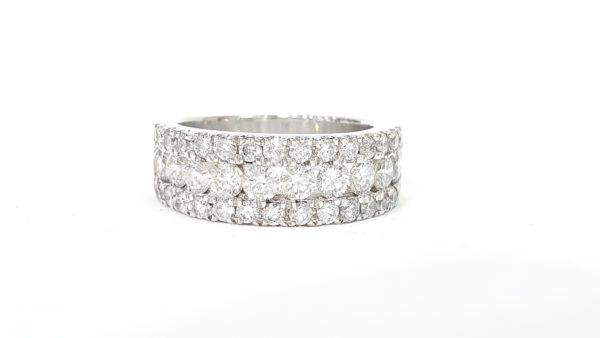 Round-Cut Diamond Wedding Band