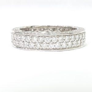 Round Brilliant Cut Diamond Full Eternity Wedding Band
