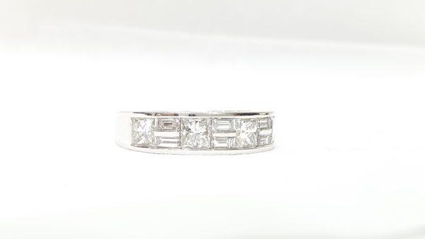 Princess Cut & Baguette Cut Diamonds Wedding Band Ring