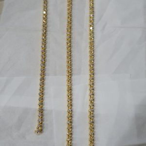 Tennis Necklace & Bracelet set 18 kt Yellow Gold