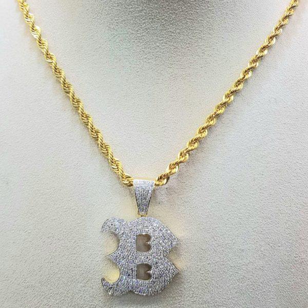 Initial Letter Diamond Pendant