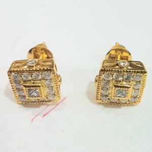 Mens/Ladies White Or Yellow Gold Princess Cut Diamond Round