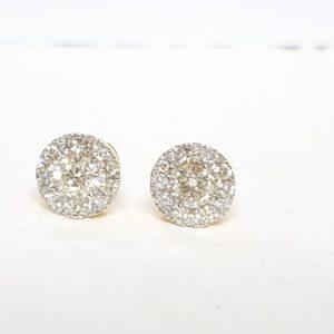HALO DIAMOND EARRING