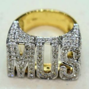 3 Letter Initial Name Diamond Ring