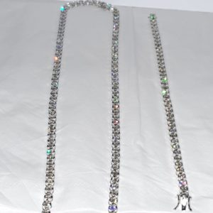 Diamond Tennis Chain & Bracelet 18 Kt White