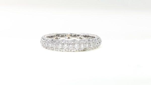 Diamonds Micro Pave Setting Wedding Band Ring