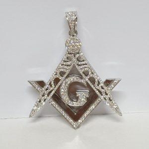 Freemason Masonic G Compass Charm Pendant