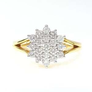 Round Brilliant Cut Prong Set Diamonds Ring