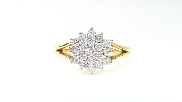 Round Brilliant Cut Prong Set Diamonds Ring