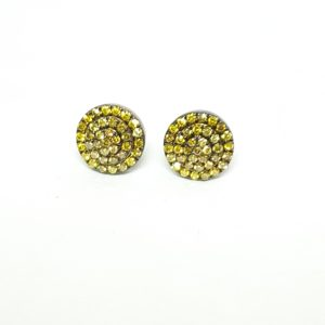 Yellow Diamond Cluster Earrings