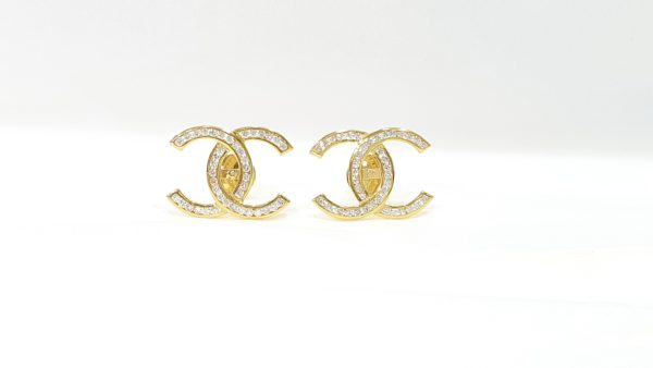 Diamonds Earrings Gold Classic Stud