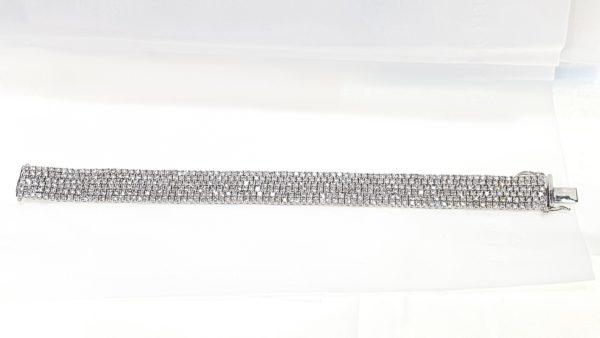 6-Row Flexible Diamonds Bracelet