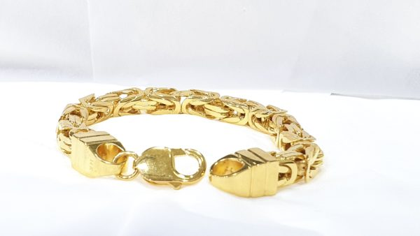 Solid Gold Kings Style Mens Bracelet