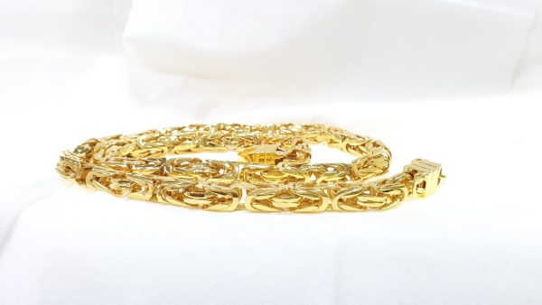 Solid Gold Kings Style Mens Necklace