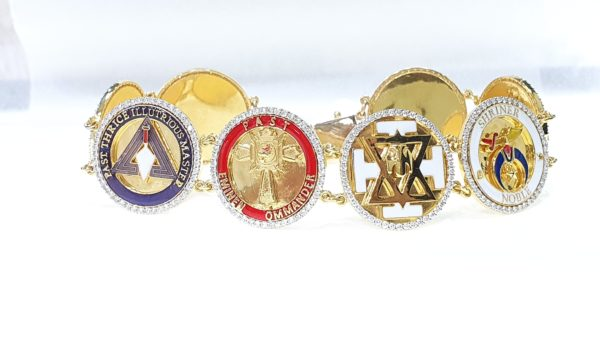 Masonic Fraternity Symbol Mens Bracelet