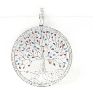 Tree Of Life Pendant With Diamonds