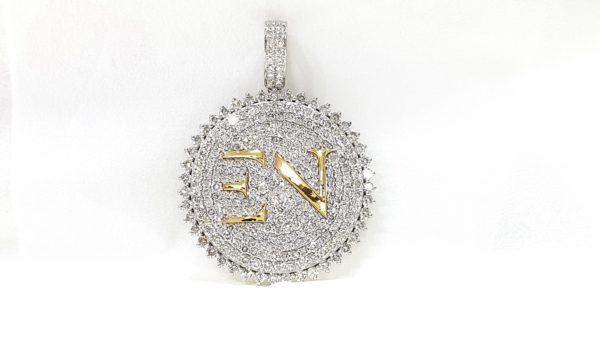 Initial Letter EN Diamond Pendant 18 Kt