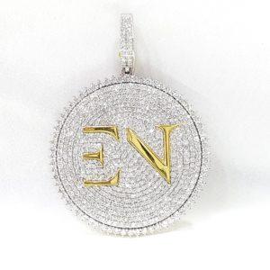 Initial Letter EN Diamond Pendant