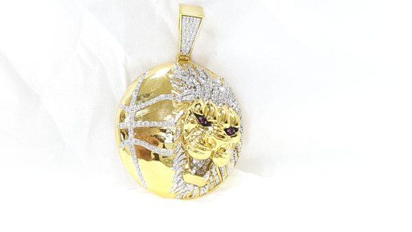 Diamond Lion Head Pendant