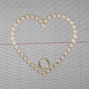 heart shape diamonds pendant