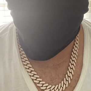 WHITE GOLD CUBAN NECKLACE WITH DIAMONDS